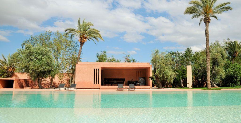 La moderna arquitectura del Dar Sabra es el hogar perfecto lejos de casa para una encantaora escapada.
