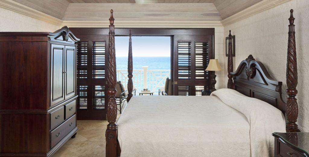 Elige la Suite 1 habitación con vista al mar y piscina de inmersión
