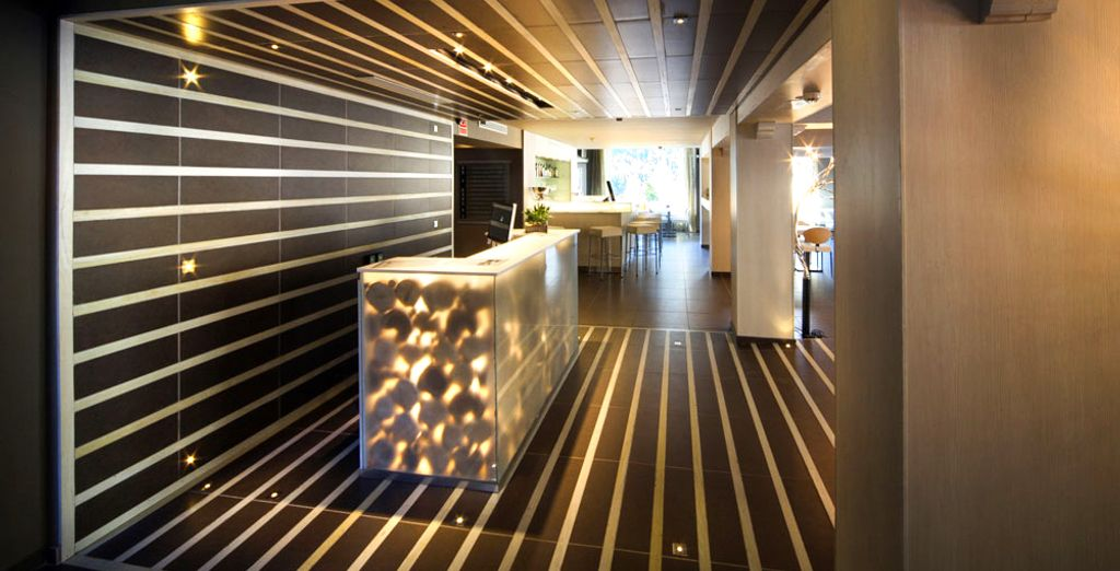 Admira el diseño acogedor y estiloso del hotel