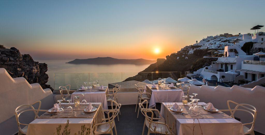 También puedes cenar en la terraza