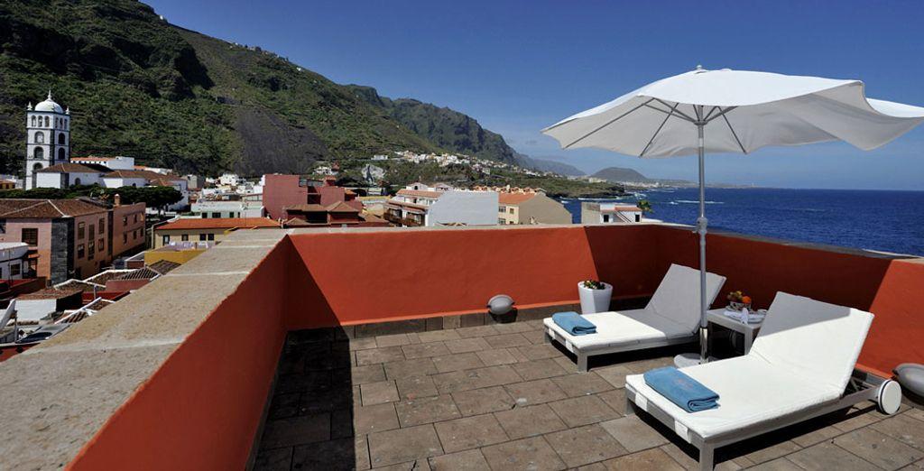 Y equipada con una terraza en la azotea para tomar el sol