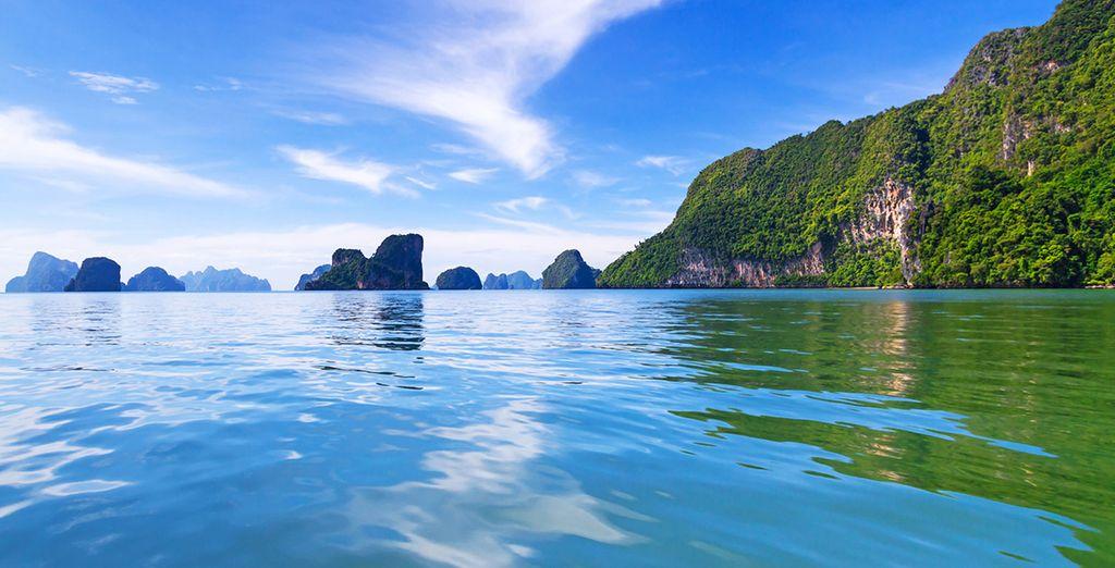 Paisaje del Parque Nacional de Phang Nga