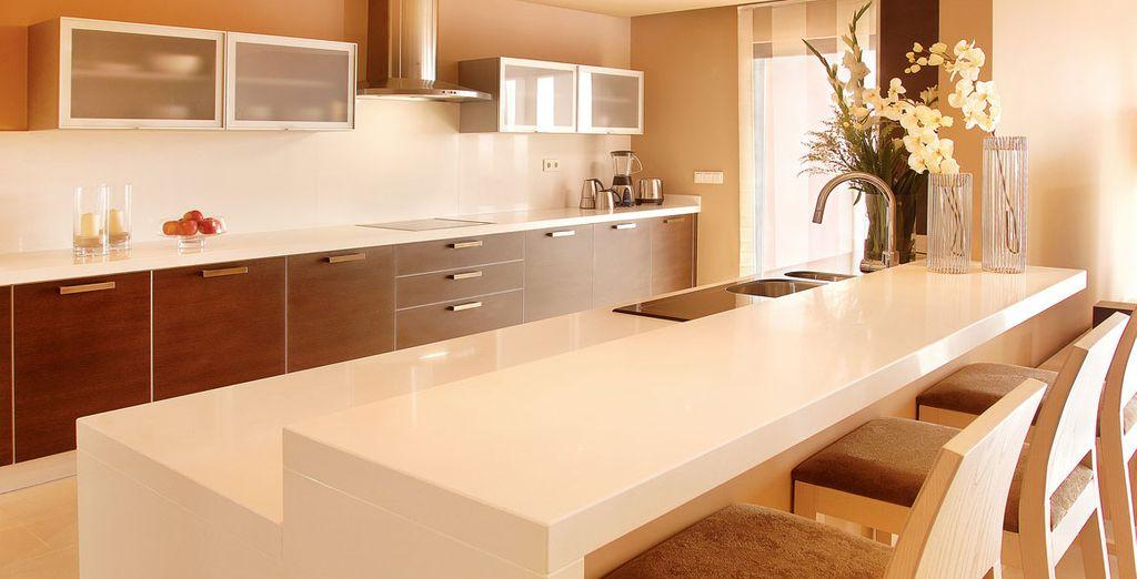 Una cocina totalmente equipada para prepararte lo que le más te apetezca