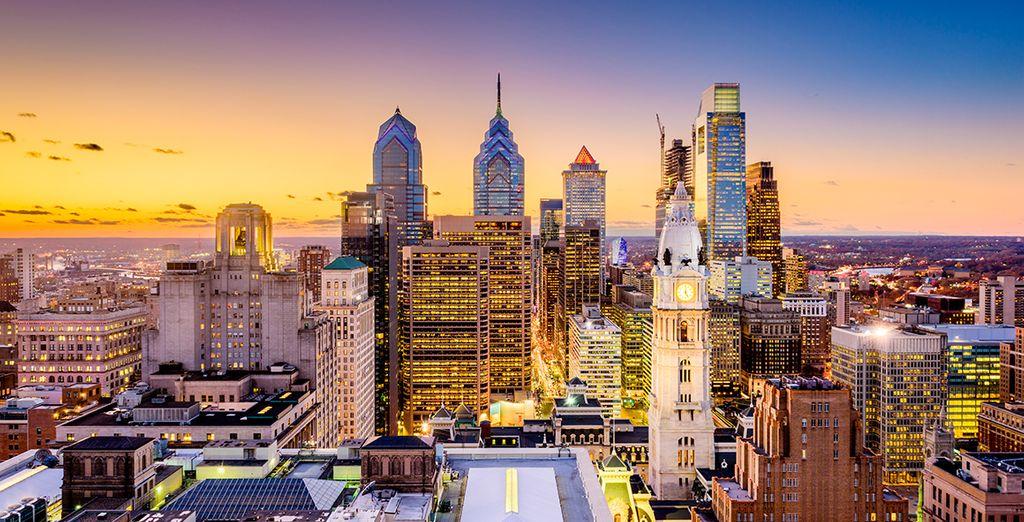 Para descansar el mismo día en Philadelphia