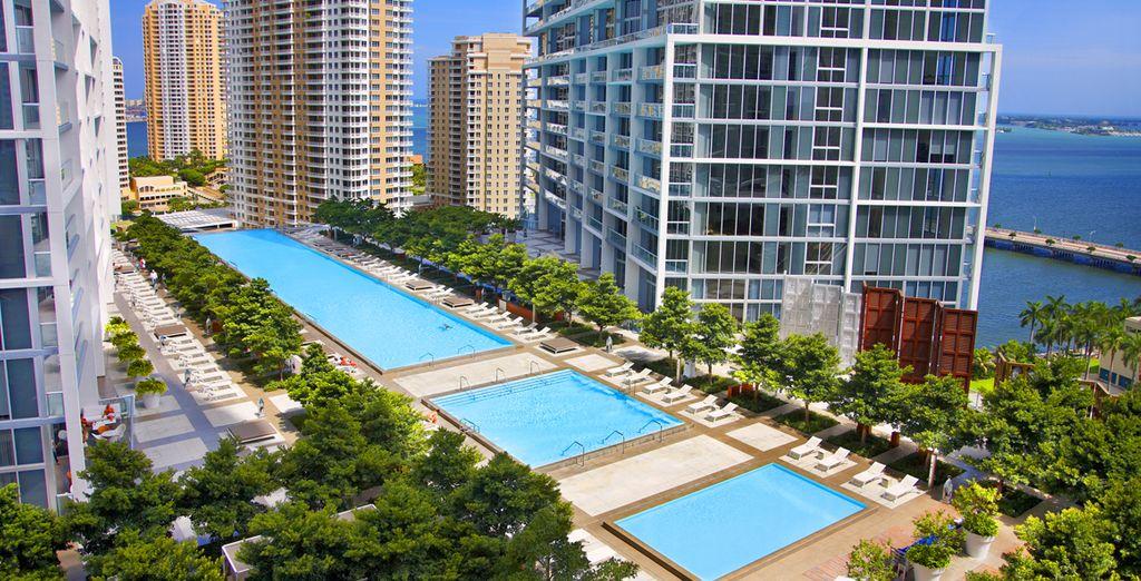 Hotel de lujo situado en el centro de la urbanización de Icon Brickell