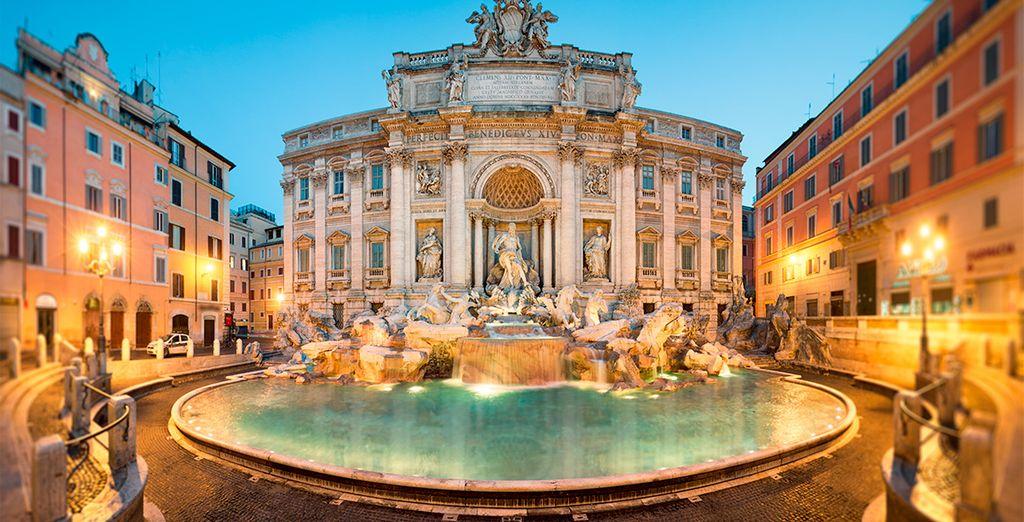 Disfrute de un hotel de 4 estrellas a 5 minutos de la Fontana de Trevi