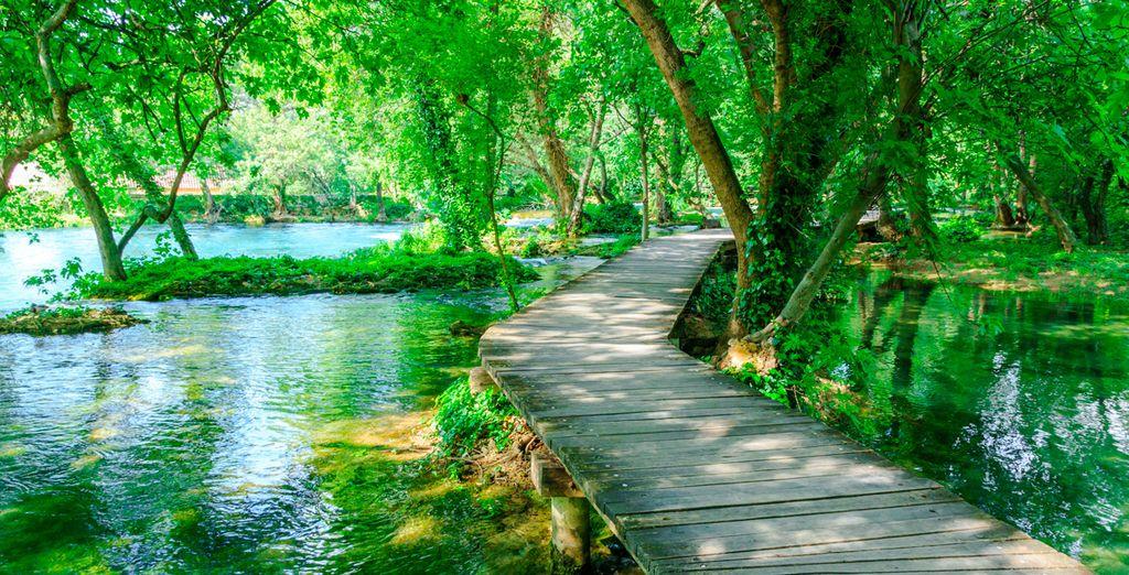 Opcionalmente podrás incluir una visita al Parque Nacional de Krka