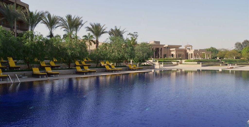 Una gran piscina