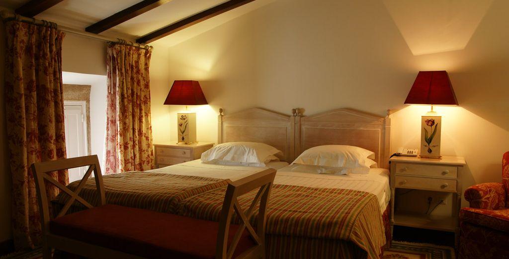 Todas las habitaciones cuentan con una decoración tradicional