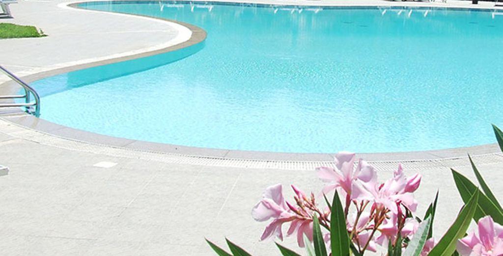 Disfrute de un baño refrescante en la piscina