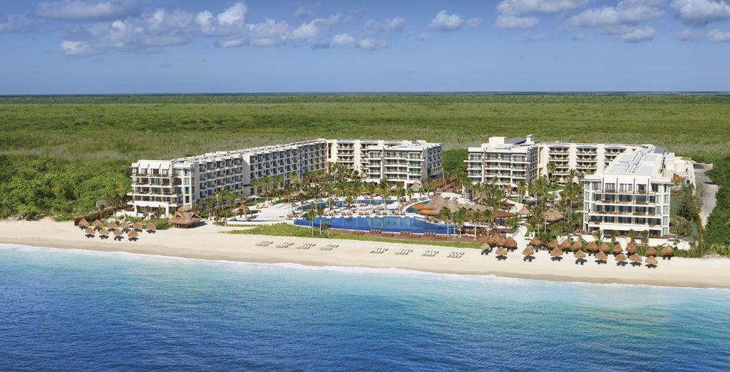 Este impresionante resort se encuentra rodeado por un jardín tropical