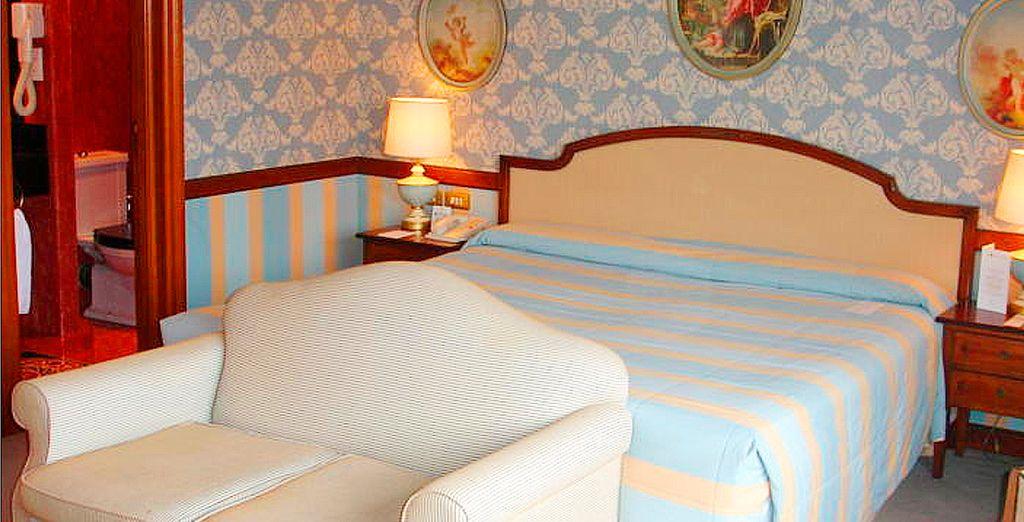 ... y descansará en amplias y confortables habitaciones