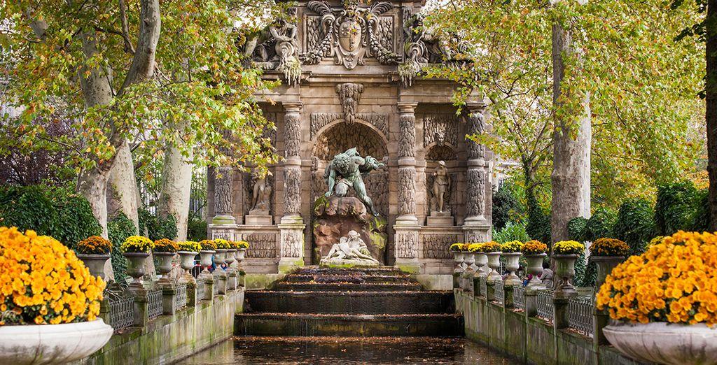 Un romántico paseo por los jardines de Luxemburgo