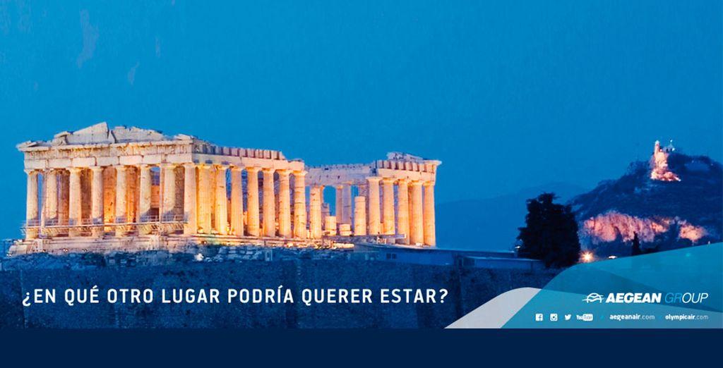 Disfrute de Grecia reservando sus vuelos con Aegean con Voyage Privé