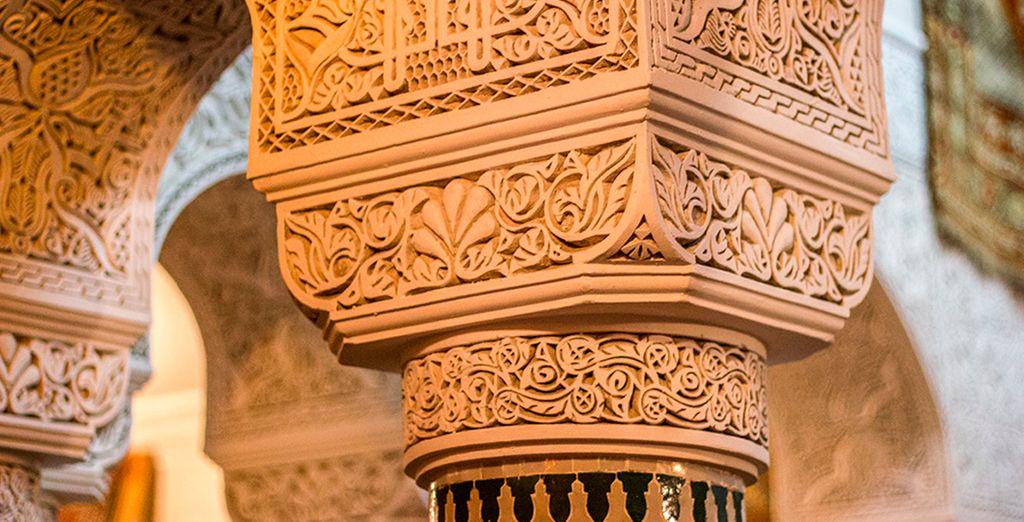 Detalles de la decoración árabe
