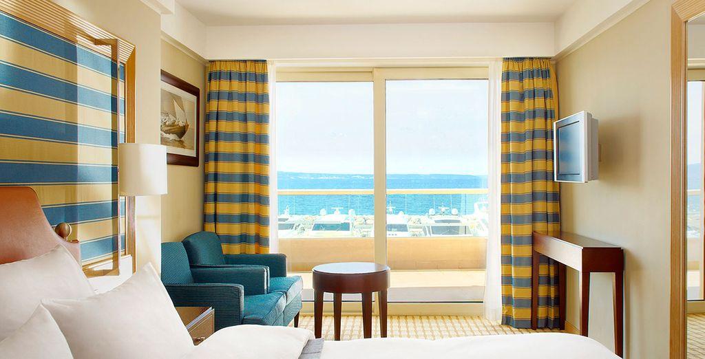 Su habitación con vistas espectaculares