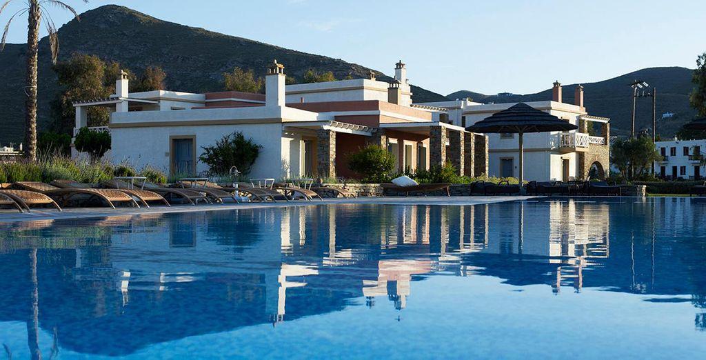 Un encantador hotel en un parador griego