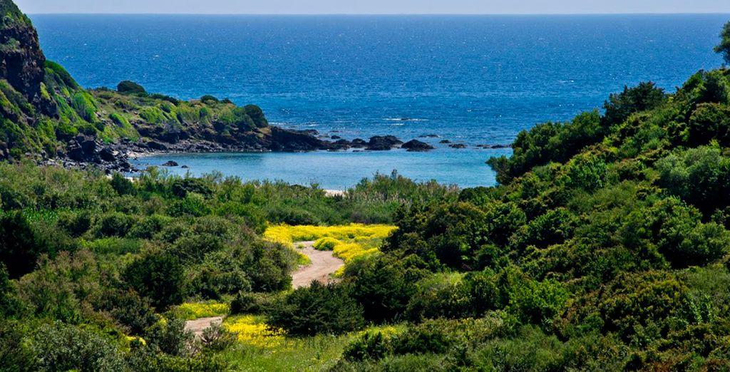 Pintoresca localidad costera de Cala Gonone