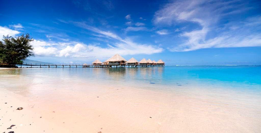 Playas de arena blanca en Tahití
