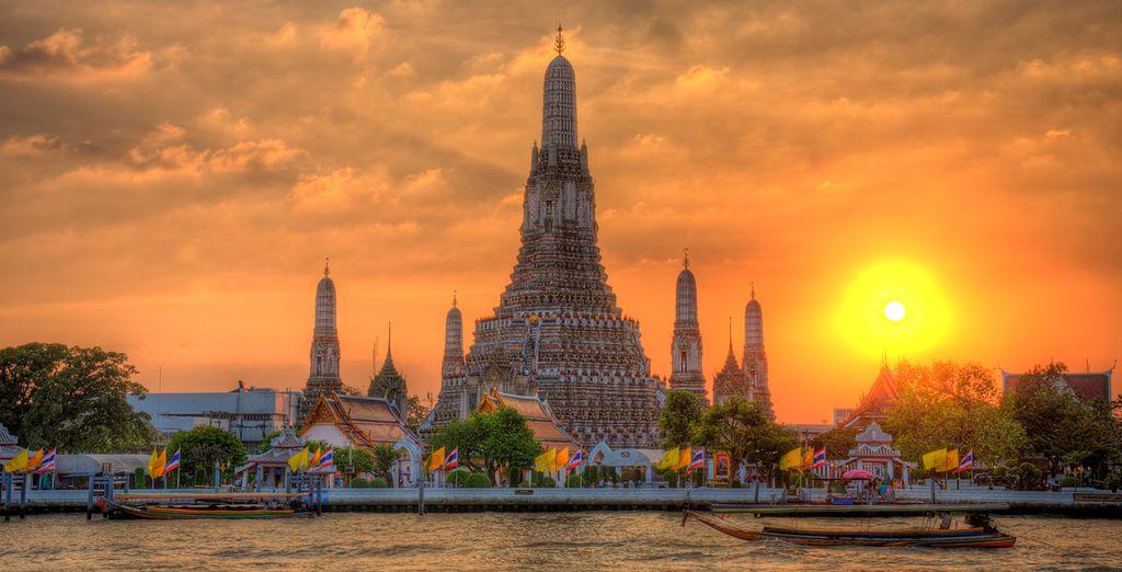 Templo de Wat Arun en Bangkok, Tailandia