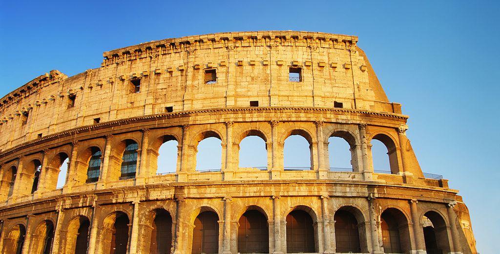 Visita obligada al Coliseo Romano, vestigio de la era dorada de la ciudad