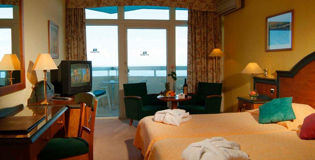 Descanse en su Habitación Confort con vistas al mar