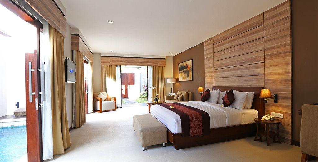 Alójese en una Villa de un dormitorio con piscina privada