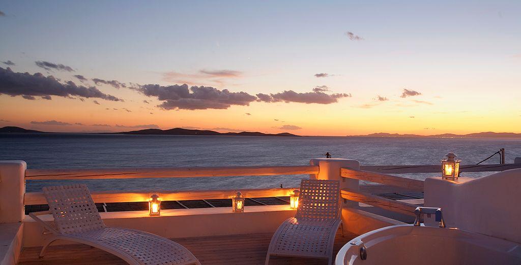 Regálese unas vistas impresionante desde la terraza