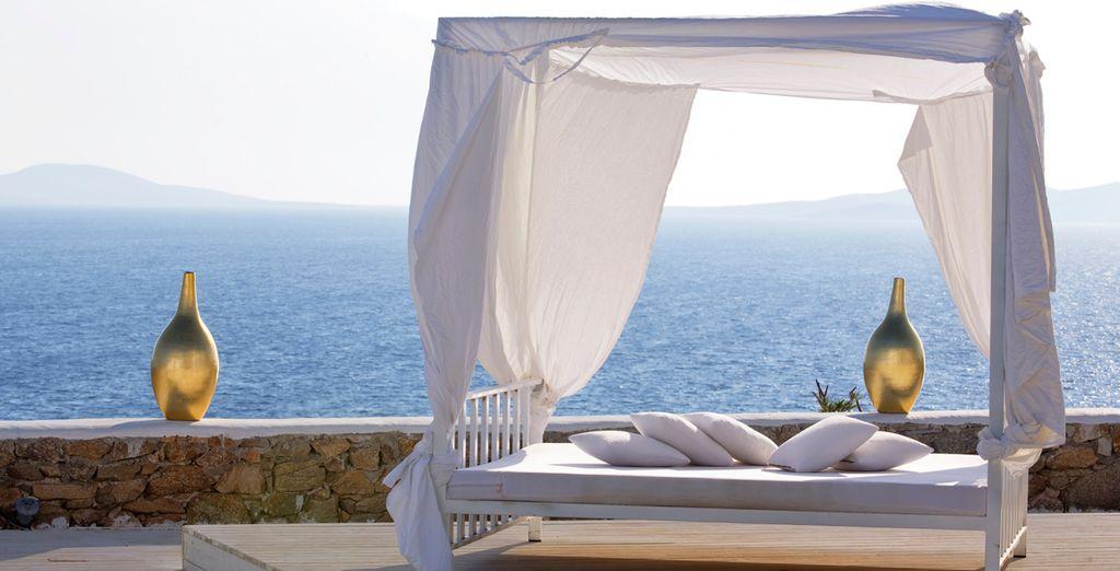 Imagínese en esta cama balinesa descansando