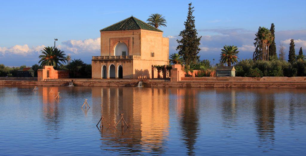 Aproveche para visitar los Jardines de Menara