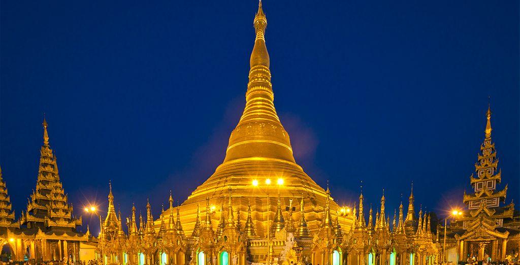 Shwedagon Pagoda, un complejo religioso espectacular que combina oro y espiritualidad
