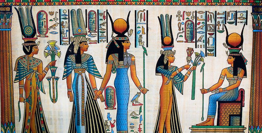 Disfrute de la cultura egipcia