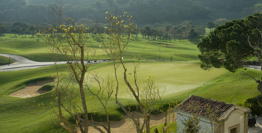 Practique el golf en estos verdes campos