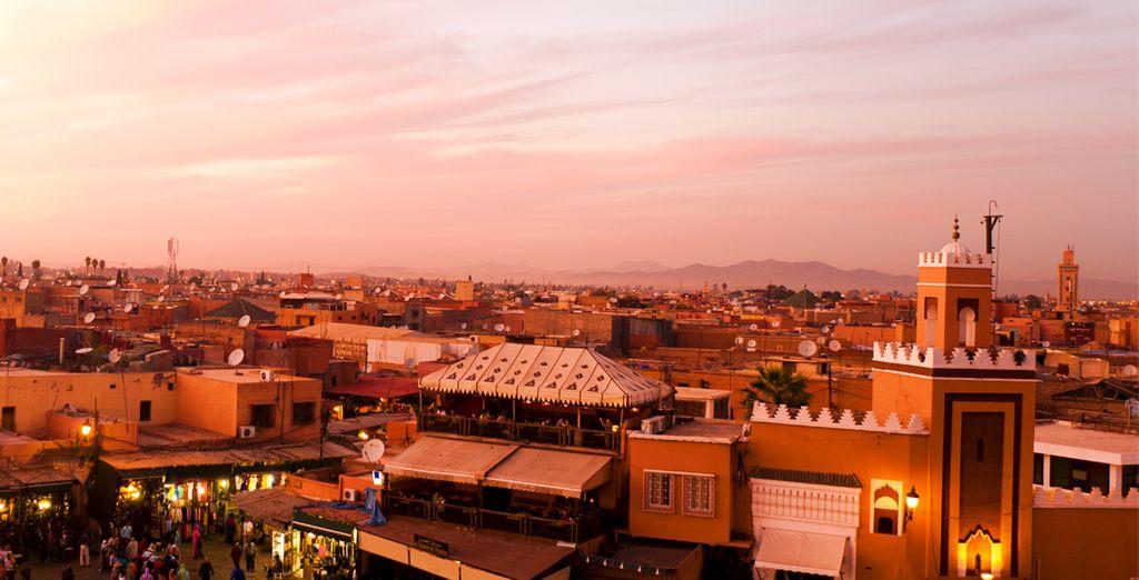 Se encuentra en medio de la riqueza cultural e histórica de la animada ciudad de Marrakech