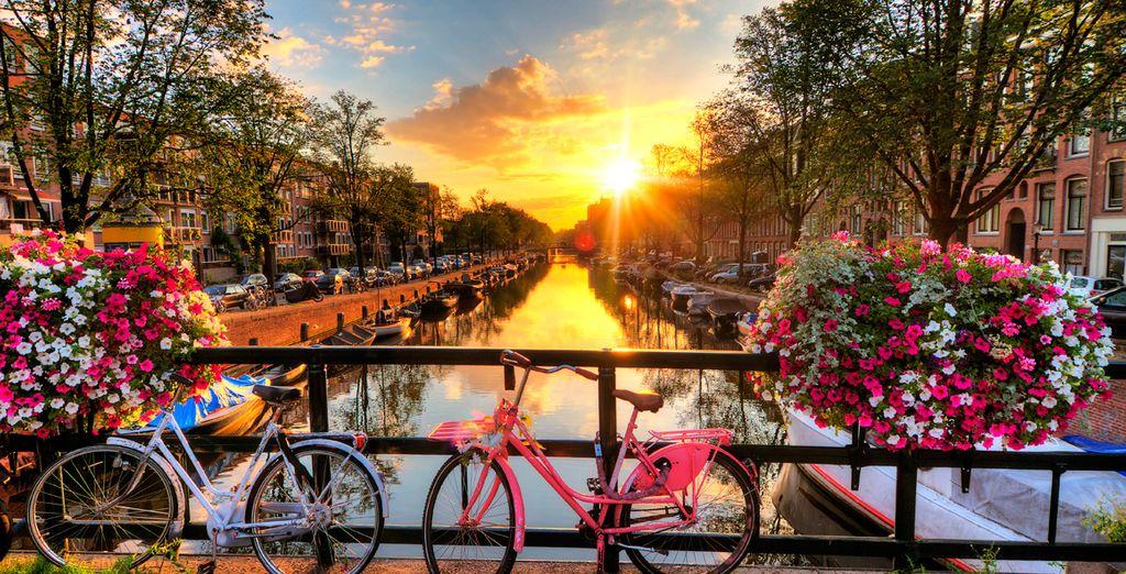 Caminando o paseando en bicicleta por sus calles