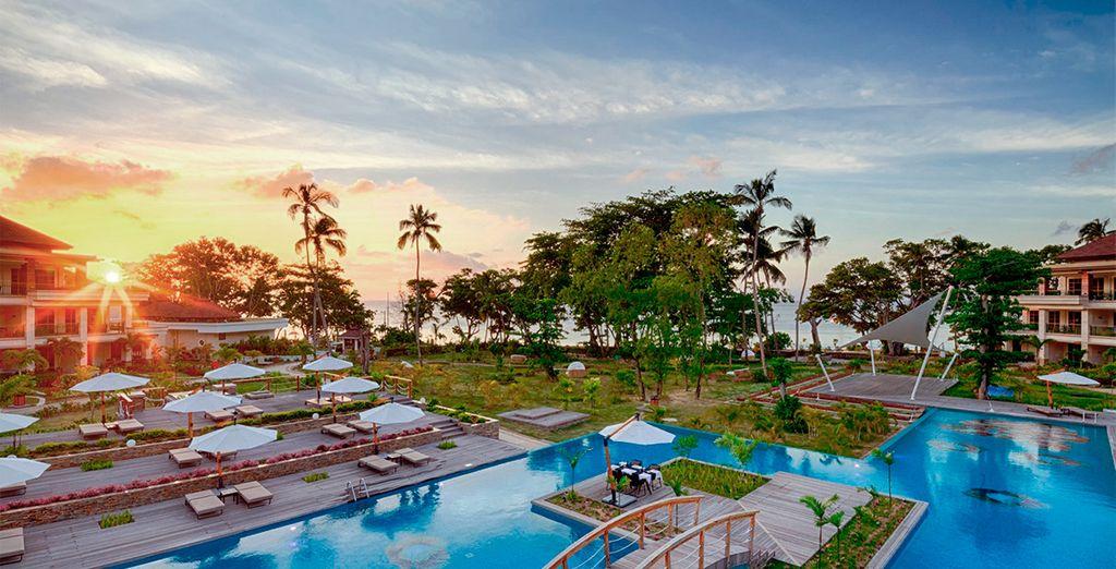 Un resort a primera línea de mar