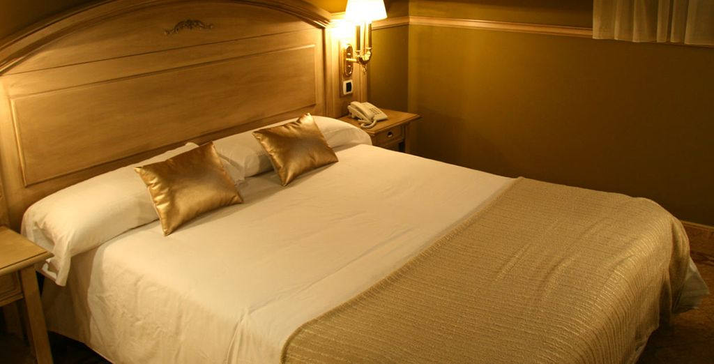 Descanse en una confortable y acogedora habitación
