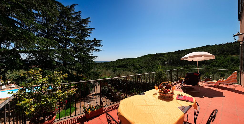 Un hotel ubicado en una antigua casa con el encanto de la Toscana