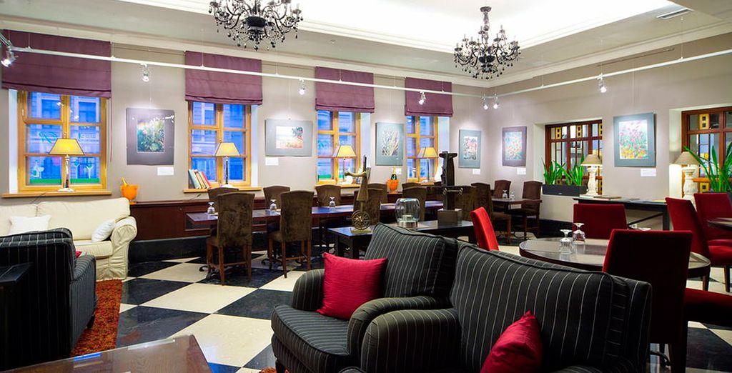 O bien podrá alojarse en el Sokos Hotel Vasilievsky 4*