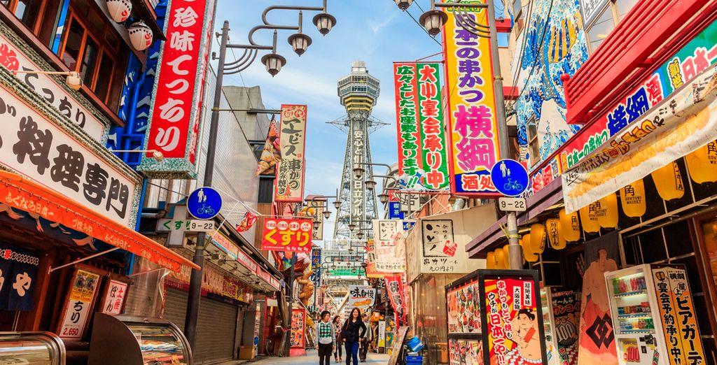 La primera parada de su viaje será la ciudad de Osaka
