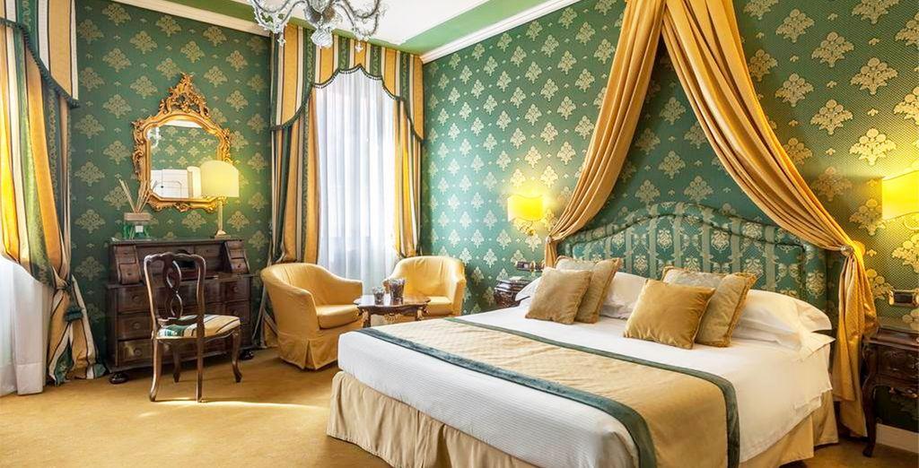 Descansarás en una elegante habitación Superior