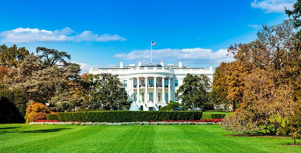 La Casa Blanca, residencia del presidente de los EEUU, una de la paradas de vuestro viaje