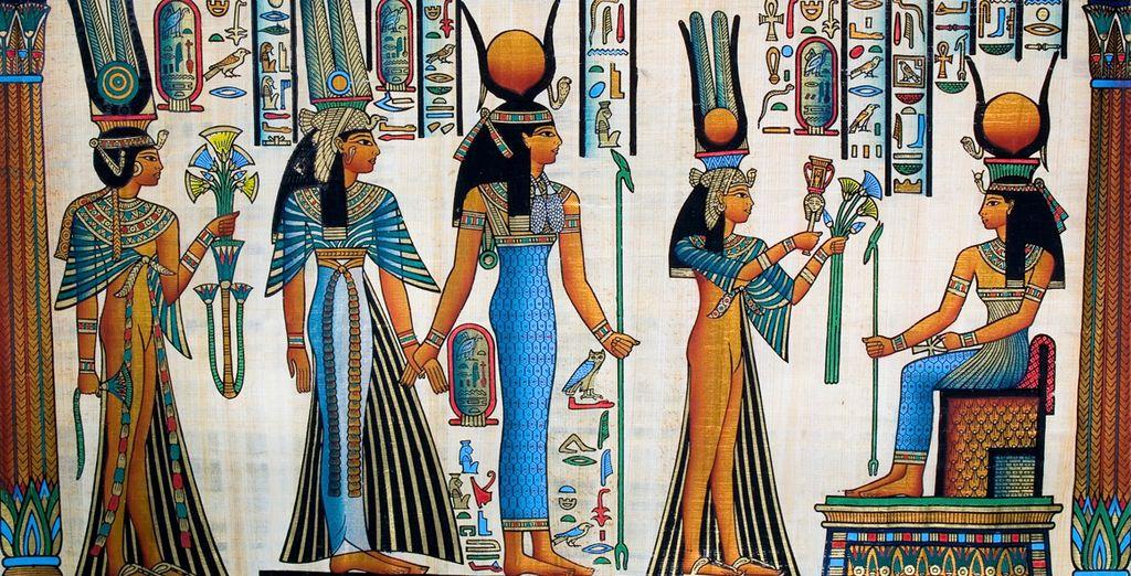 ... que conserva los tesoros del antiguo Egipto