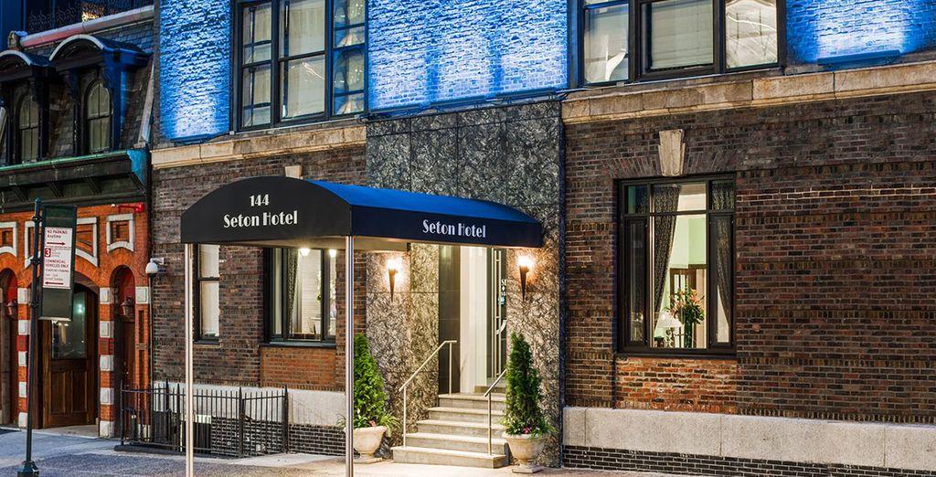 Las puertas de Seton Hotel se abren para usted