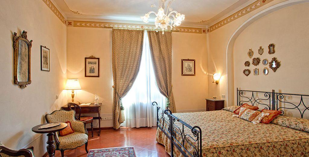 Descansará en una elegante habitación Superior con encanta en La Toscana