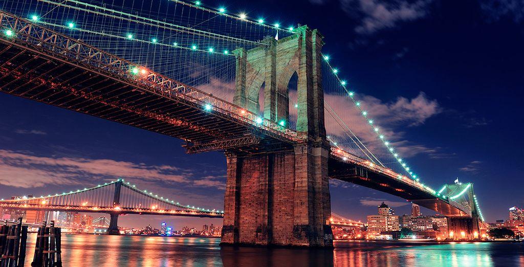 Visita el emblemático puente de Brooklyn