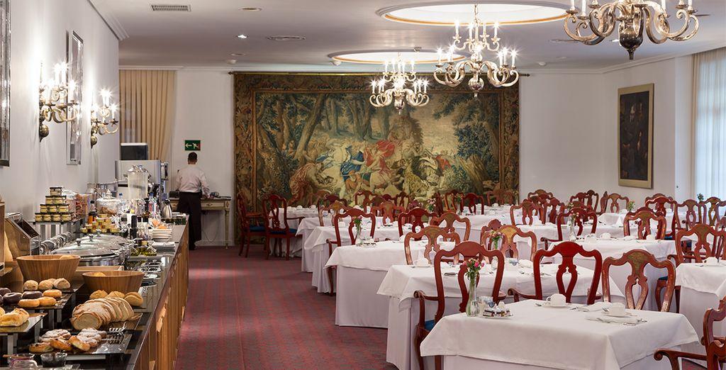 El desayuno buffet, uno de los más completos y refinados de Asturias