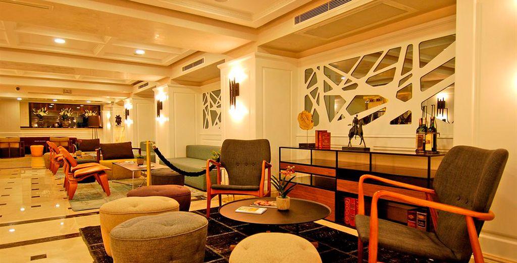Con una decoración elegante y espacios confortables