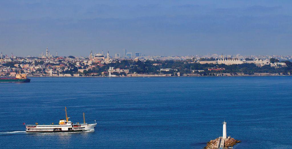 Deléitate con las vistas a Estambul y al mar de Mármara