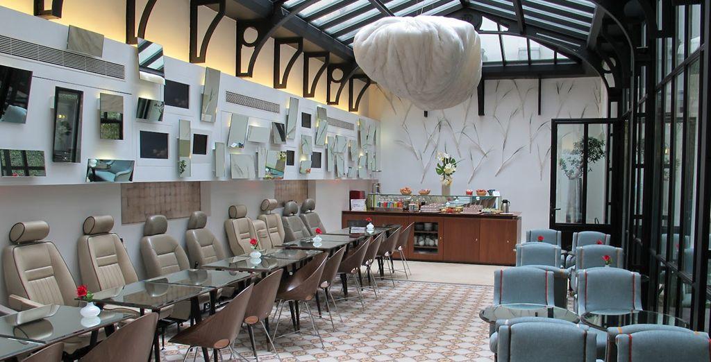 Un hotel tranquilo y con unos interiores únicos